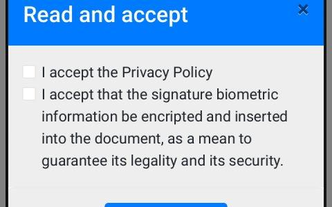 Aceptación de Política de Privacidad