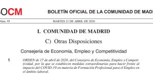 Aula Virtual Comunidad Madrid